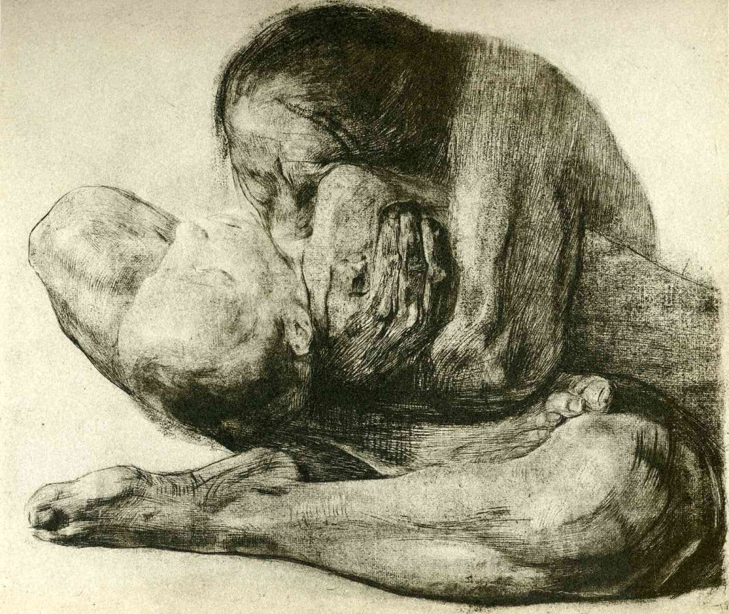 Woman with Dead Child - Kathe Kollwitz