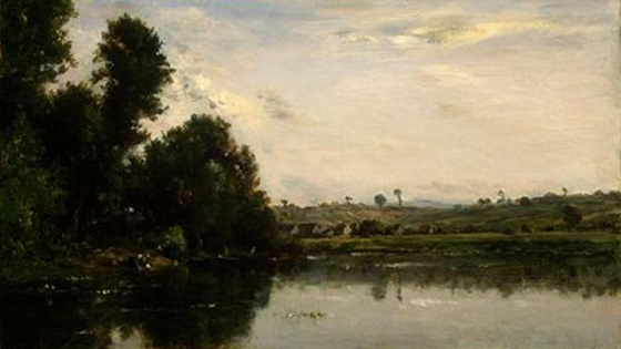 Washerwomen at the Oise River near Valmondois (1865), Charles-François Daubigny recensione lo specchio scuro