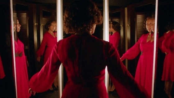 4 - Changing clothes in In Fabric (Peter Strickland, 2018)