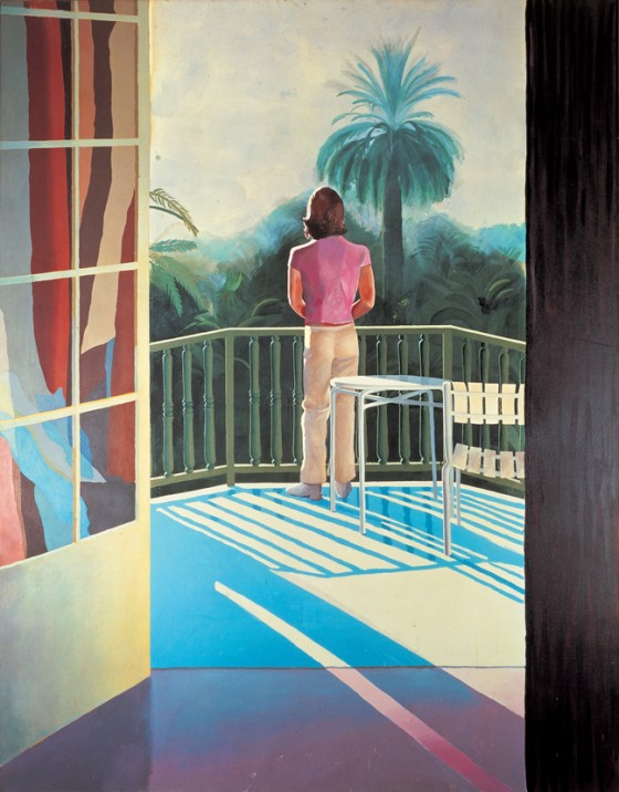 hockney sur la terrasse