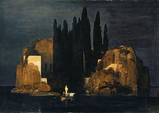 il bacio della pantera Bocklin isle of the dead