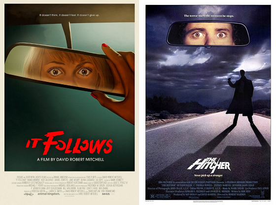 it follows the hitcher poster