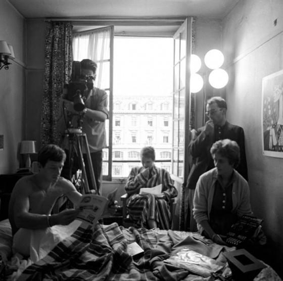 fig. 9 - Gli spazi stretti, la luce semi-naturale di Coutard sul set di Fino all'ultimo respiro - 1960